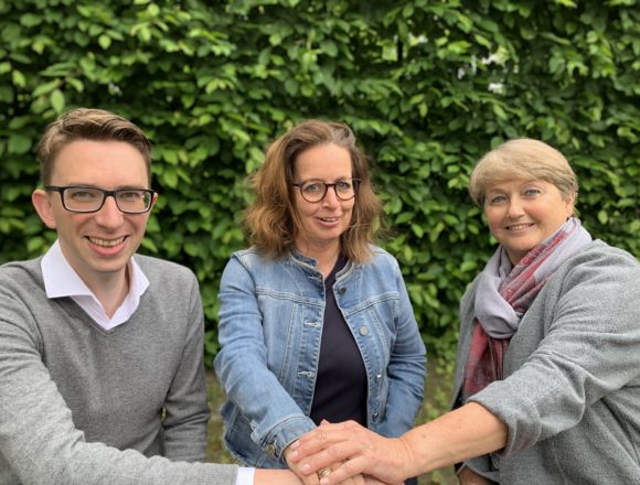 Schulleitung Thomas Edison RS Mai 2019: v.l.n.r. Herr Schipper, Frau Sieker, Frau Naumann